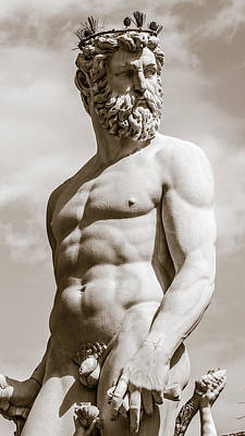 Neptune Statue In Florence Poster