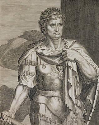 Nero Claudius Caesar Emperor Of Rome Poster by Titian