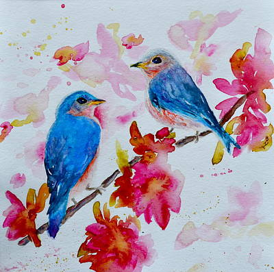 Nesting Pair Poster by Beverley Harper Tinsley