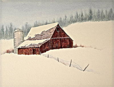 Nestled In White Poster by Carolyn Rosenberger