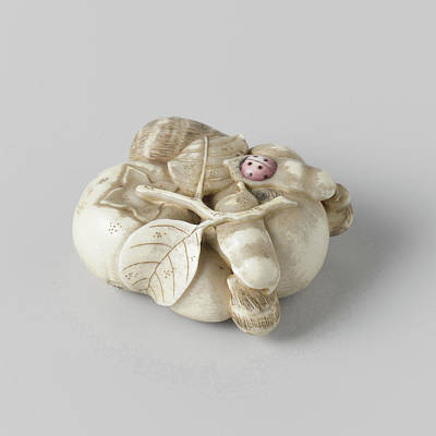 Netsuke, Representation Of A Combination With Fruit Poster by Quint Lox