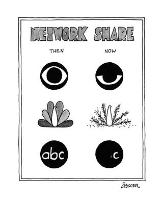 Network Share Poster by Jack Ziegler