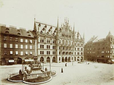 Neues Rathaus In Munich At The Marienplatz Poster by Artokoloro