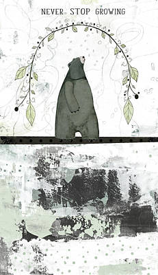 Never Stop Growing Poster by Sarah Ogren