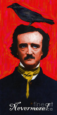 Nevermore - Edgar Allan Poe - Painterly Poster