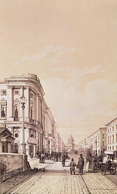 Nevsky Prospekt, St. Petersburg, Illustration From Voyage Pittoresque En Russie, 1843 Engraving Poster by Andre Durand