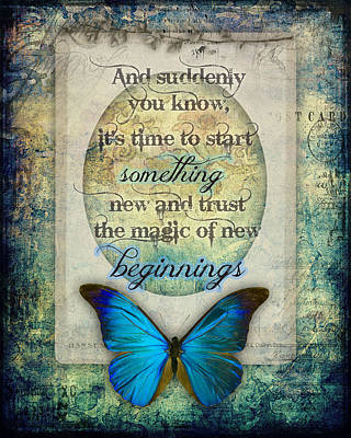 New Beginnings Poster by Jessica Galbreth