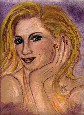 Poster featuring the mixed media New Blond by Desline Vitto