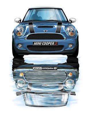 New Bmw Mini Cooper S Blue Poster