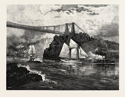 New Brunswick, Suspension Bridge Poster by Canadian School