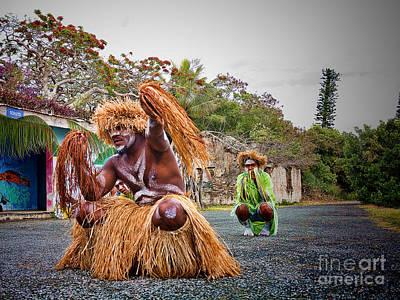 New Caledonia Tribal Natives  Poster