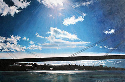 New Dawn Above The New Bridge Poster by Mirko Sikimic