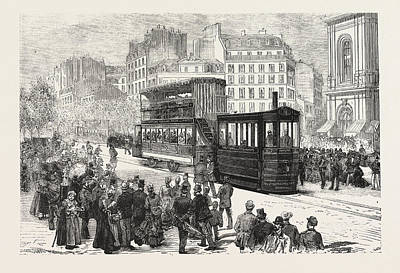New Engine For Propelling Tramway Cars, Now In Use In Paris Poster by French School