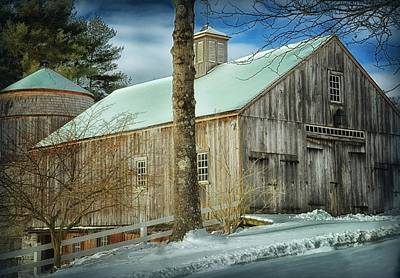 New England Barn Poster by Tricia Marchlik