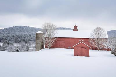 New England Barns Poster