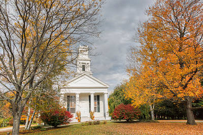 New England Country Church Poster by Bill Wakeley