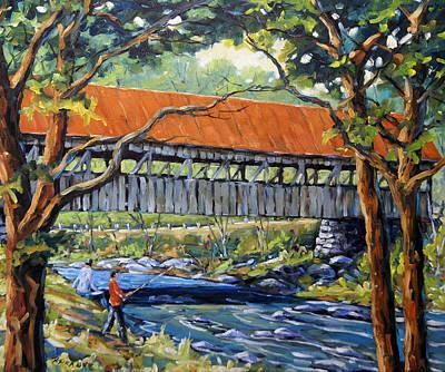 New England Covered Bridge By Prankearts Poster by Richard T Pranke
