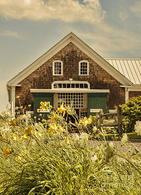 New England Farmhouse Poster