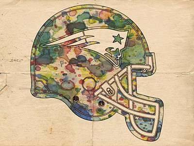 New England Patriots Helmet Art Poster