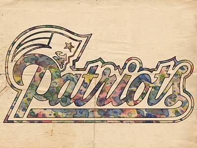 New England Patriots Logo Art Poster