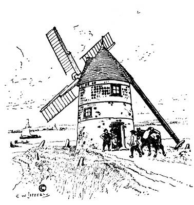 New France Grain Mill Poster