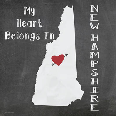 New Hampshire Poster by Jo Moulton