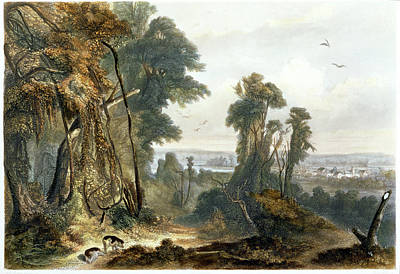 New Harmony On The Wabash, Plate 2 Poster by Karl Bodmer