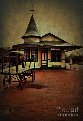 Poster featuring the photograph New Hope Ivyland Train Station by Debra Fedchin