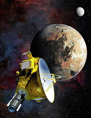New Horizons At Pluto Poster by Nasa/johns Hopkins University Applied Physics Laboratory/southwest Research Institute
