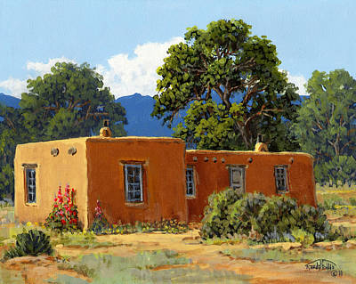 New Mexico Adobe Poster by Randy Follis