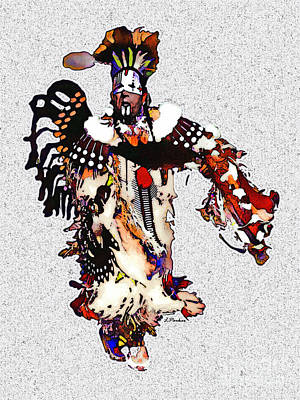New Mexico Native Dancer Poster by Linda  Parker