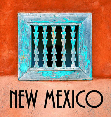 New Mexico Pueblo Window Work A Poster by David Lee Thompson