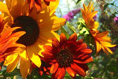 New Mexico Summer Sunflower Garden Poster