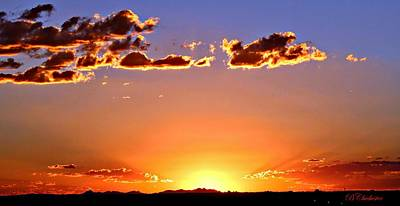 New Mexico Sunset Glow Poster by Barbara Chichester
