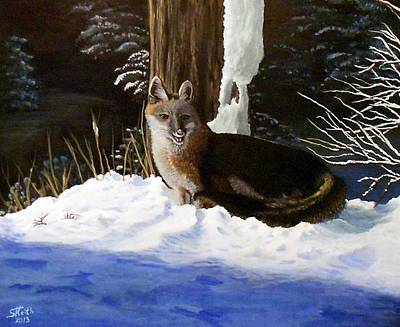 Poster featuring the painting New Mexico Swift Fox by Sheri Keith