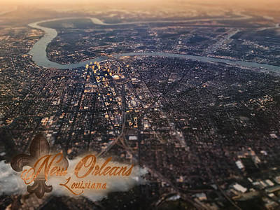 Poster featuring the photograph New Orleans Aerial View by Anthony Citro