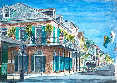 New Orleans Bourbon Street Poster