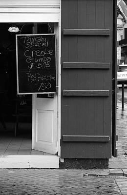 New Orleans - Bourbon Street Menu 2 Poster by Frank Romeo