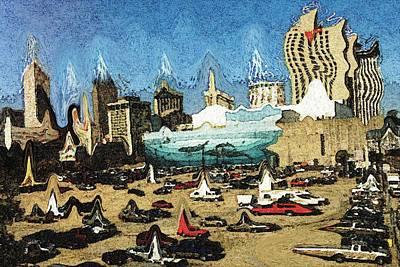 New Orleans Bizarre - Modern Art Poster by Art America Online Gallery