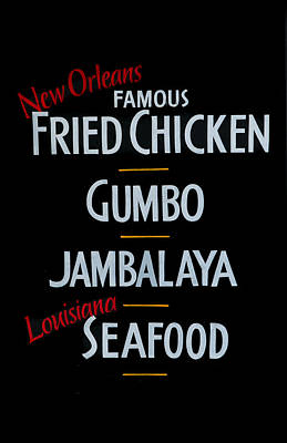 New Orleans Food Poster by Cecil Fuselier