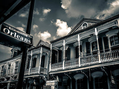 New Orleans In Black And White Poster by Catherine Arnas
