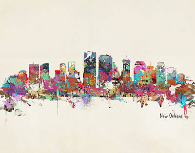 New Orleans Louisiana Skyline Poster