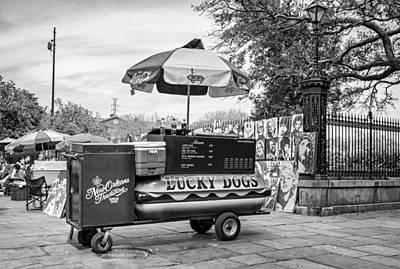 New Orleans - Lucky Dogs Bw Poster by Steve Harrington