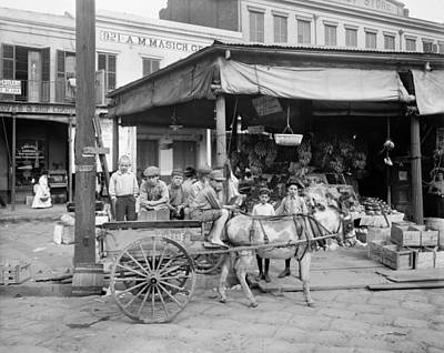 New Orleans Market, C1905 Poster