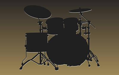 New Orleans Saints Drum Set Poster by Joe Hamilton