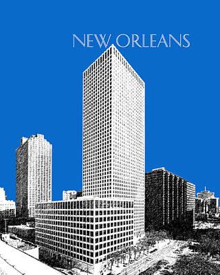 New Orleans Skyline - Blue Poster