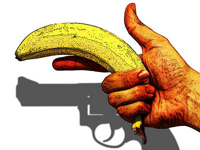 New Photographic Art Print For Sale   Hand Gun Against A White Background Poster