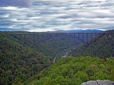 New River Bridge Poster by Aimee L Maher Photography and Art Visit ALMGallerydotcom