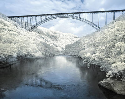 New River Gorge Bridge In Infrared Poster by Mary Almond