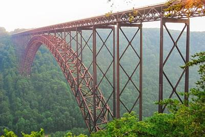 Poster featuring the photograph New River Gorge Bridge   by Lars Lentz
